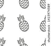 ananas seamless pattern...   Shutterstock .eps vector #1415974589