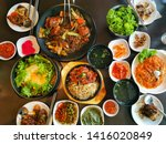 image  of  korea n  foods  ... | Shutterstock . vector #1416020849