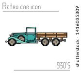color vector icon american...   Shutterstock .eps vector #1416035309
