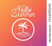 hello summer and vacation... | Shutterstock .eps vector #1416050243