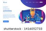 kids programming and creating... | Shutterstock .eps vector #1416052733