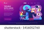 senior couple modern gadgets... | Shutterstock .eps vector #1416052760