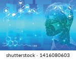 marijuana head and cannabis... | Shutterstock .eps vector #1416080603