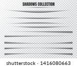 realistic shadow effect vector... | Shutterstock .eps vector #1416080663