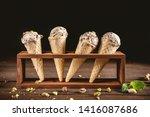 ice cream scoops in cones | Shutterstock . vector #1416087686