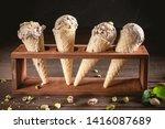 ice cream scoops in cones | Shutterstock . vector #1416087689