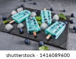 blue popsicles with blueberries ... | Shutterstock . vector #1416089600
