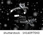 wedding ring with diamond. sign ...   Shutterstock . vector #1416097043