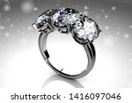 wedding ring with diamond. sign ...   Shutterstock . vector #1416097046