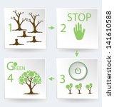go green. infographics vector...   Shutterstock .eps vector #141610588