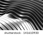 abstract curve stripe metal... | Shutterstock . vector #141610930