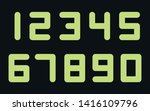 bold digital numbers  live... | Shutterstock .eps vector #1416109796