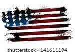 american grunge flag   Shutterstock .eps vector #141611194