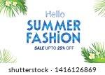 summer sale banner  exotic... | Shutterstock .eps vector #1416126869