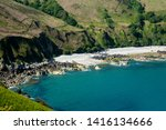 jersey island. beautiful cliffs ... | Shutterstock . vector #1416134666
