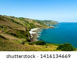 jersey island. beautiful cliffs ... | Shutterstock . vector #1416134669