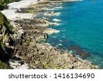 jersey island. beautiful cliffs ... | Shutterstock . vector #1416134690
