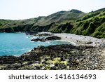 jersey island. beautiful cliffs ... | Shutterstock . vector #1416134693