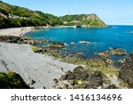 jersey island. beautiful cliffs ... | Shutterstock . vector #1416134696