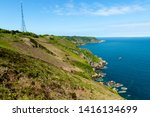 jersey island. beautiful cliffs ... | Shutterstock . vector #1416134699