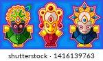 lord jagannath  balabhadra and... | Shutterstock .eps vector #1416139763