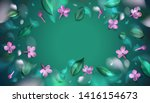 green spring background with... | Shutterstock .eps vector #1416154673