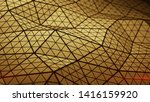 low poly orange triangulated... | Shutterstock . vector #1416159920