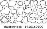 set of empty comic speech... | Shutterstock .eps vector #1416160100