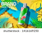 cosmetic skincare ads with... | Shutterstock .eps vector #1416169250