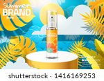 summer cosmetic skincare ads on ... | Shutterstock .eps vector #1416169253