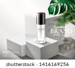 cosmetic skincare ads on white... | Shutterstock .eps vector #1416169256
