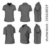 all views men's white short... | Shutterstock .eps vector #141618019