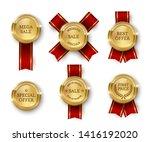 award medal 3d realistic vector ... | Shutterstock .eps vector #1416192020