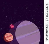 planets space galaxy vector... | Shutterstock .eps vector #1416193376