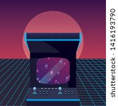 arcade machine videogame retro... | Shutterstock .eps vector #1416193790