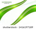 abstract curved wavy lines with ... | Shutterstock .eps vector #1416197189