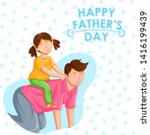 happy father's day holiday...   Shutterstock .eps vector #1416199439