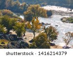 Top View Of The River With...