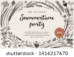 summertime party. floral... | Shutterstock .eps vector #1416217670
