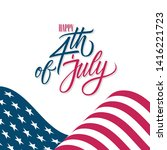 happy 4th of july united states ... | Shutterstock .eps vector #1416221723