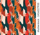contemporary tropical abstract... | Shutterstock .eps vector #1416227933