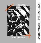 death slogan with skull in...   Shutterstock .eps vector #1416228566