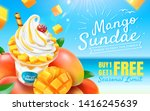 delicious mango sundae ads with ... | Shutterstock .eps vector #1416245639
