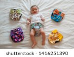 Baby And Reusable Diapers. Baby ...