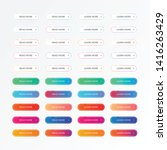 set of ui elements buttons ...