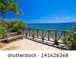 beautiful beach and tropical sea | Shutterstock . vector #141626368