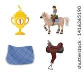 isolated object of horseback... | Shutterstock .eps vector #1416265190