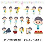 A Set Of Boy On Classical Musi...