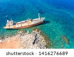 Shipwreck View From Drone. The...
