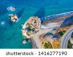 Cyprus. Aphrodite Rock Top View....